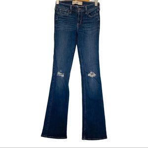 Hollister boot cut jeans distressed 00/23 VGUC